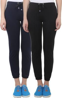 Vimal Solid Women's Black, Blue Track Pants at flipkart
