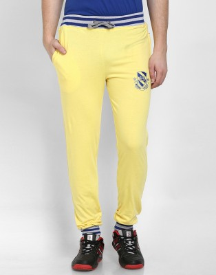 Cotton County Premium Solid Men's Yellow Track Pants