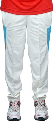 Dyed Colors Solid Men's White, Light Blue Track Pants