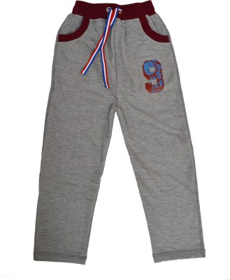Crux&Hunter Solid Boy's Grey Track Pants