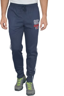 Griffel Solid Men's Dark Blue Track Pants