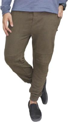 Body Tantrum Solid Men,s Dark Green Track Pants