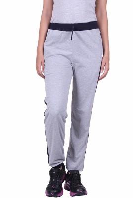 DFH Solid Women's Grey Track Pants at flipkart