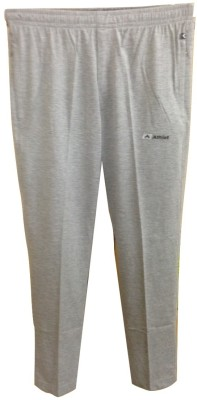 Athlet Solid Men's Silver Track Pants