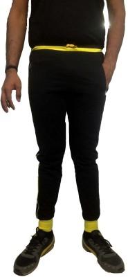 Super Active Solid Men's Black, Yellow Track Pants