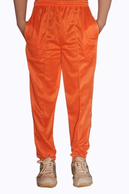 Dyed Colors Solid Men's Orange, Orange Track Pants