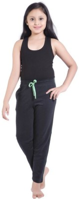 Red Ring Solid Girl's Blue Track Pants at flipkart