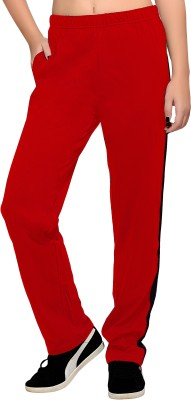 Towngirl Solid Women's Red Track Pants