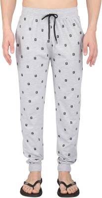 Illicit Nation Printed Men's Grey Track Pants