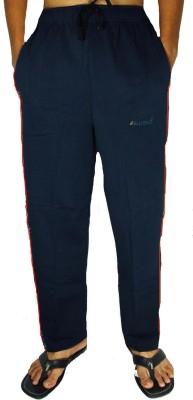 Bluedge Solid Men,s Dark Blue, Red Track Pants