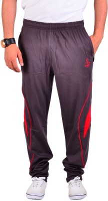 Vego Vego Cotton Steelgrey Dual Zip Pocket Track Pant Solid Men's Brown Track Pants