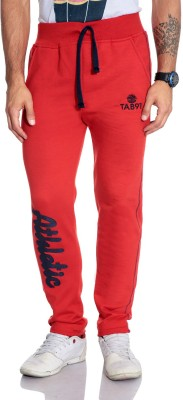 Tab 91 Solid Men's Red Track Pants