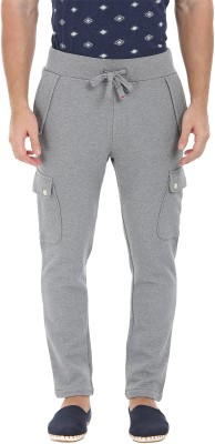 Zobello Solid Mens Grey Track Pants