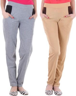Coaster Solid Women's Grey, Beige Track Pants