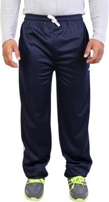 Obvio Solid Men's Blue Track Pants