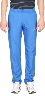 Attro Solid Men's Blue Track Pants