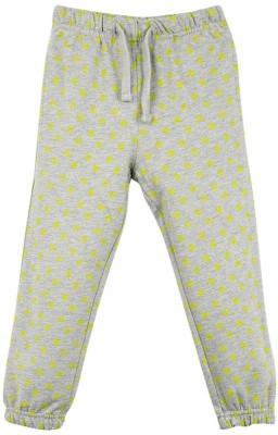 Oye Printed Girl's Grey Track Pants