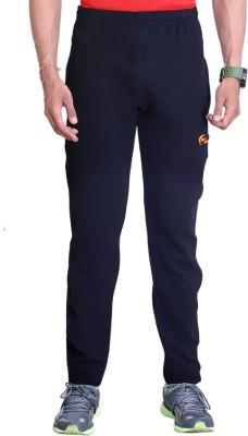 Dev Solid Men's Black Track Pants