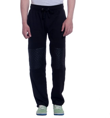 TAG 7 Solid Men's Black Track Pants