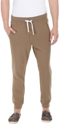 Zobello Solid Mens Brown Track Pants