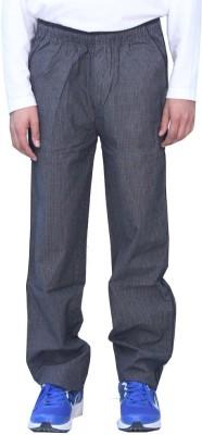 Romano Checkered Men's Black Track Pants