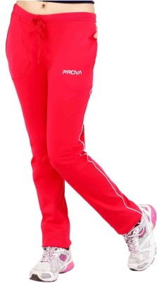 Prova Solid Women's Red Track Pants