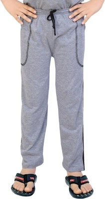 Be 13 Solid Boy's Grey Track Pants