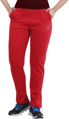 Bfly Solid Women's Red Track Pants