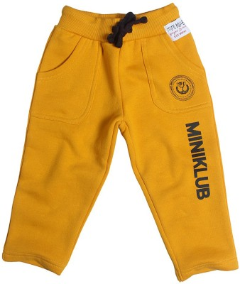 Mini Klub Solid Baby Boy's Yellow Track Pants