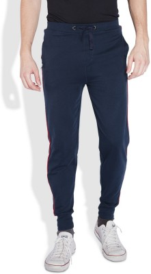 Park Avenue Solid Men's Blue Track Pants