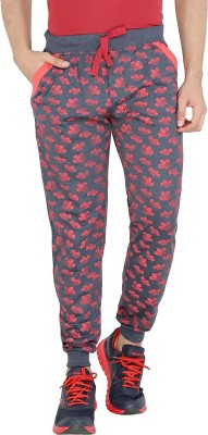 Allocate Printed Men,s Blue Track Pants