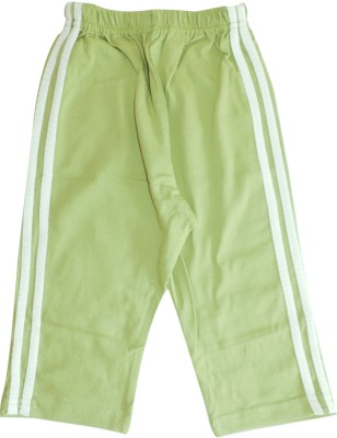 Ole Baby Sporty Vertical Striped Baby Boy's Green Track Pants