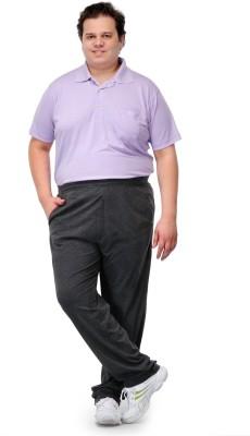 PlusS H Solid Men's Grey Track Pants
