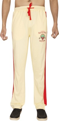 Red Line Solid Men,s Yellow Track Pants