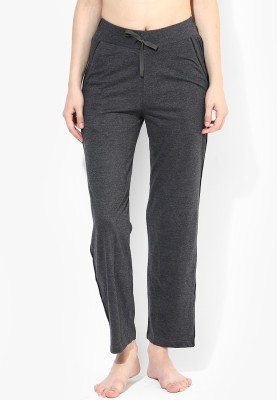 Red Rose Solid Women's Grey Track Pants
