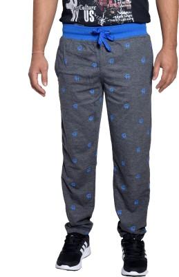 Gen Printed Men's Grey Track Pants