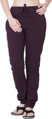 Wake Up Competition Solid Women's Brown Track Pants at flipkart