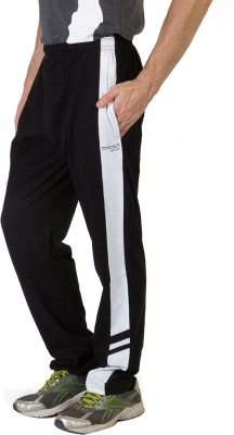 Masch Sports Solid Men's Black, White Track Pants at flipkart