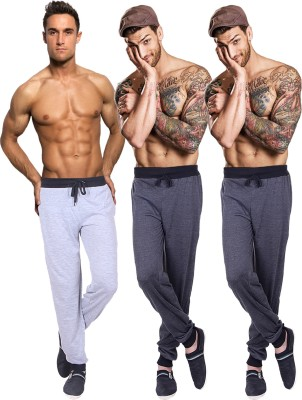 Billu Oye Solid Men's Grey, Grey, Grey Track Pants