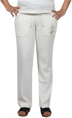 Pinellii Pamper Pant Gardenia Solid Women's White Track Pants