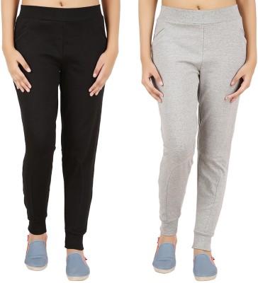 Notyetbyus Solid Women's Grey, Black Track Pants