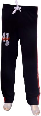 Puppet Nx Printed Boy,s Black Track Pants