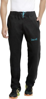 London Bee Solid Men's Black Track Pants