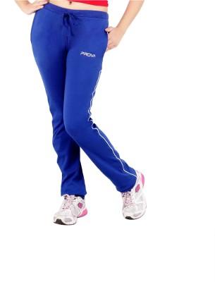 Prova Solid Women's Light Blue Track Pants