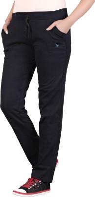SATYAM Solid Women's Black Track Pants