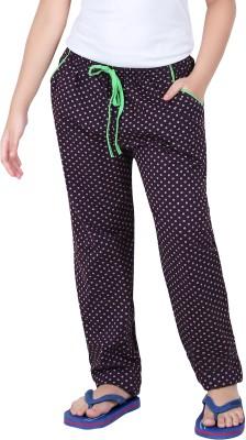 Red RinG Polka Print Girl's Purple Track Pants