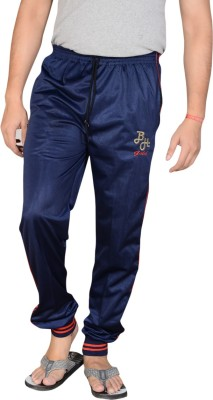 Blue Horse Striped Men's Blue, Red Track Pants