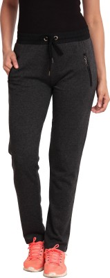 Ativo Solid Women's Black Track Pants