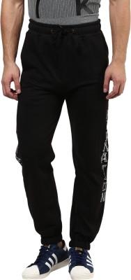 Hypernation Printed Men's Black Track Pants