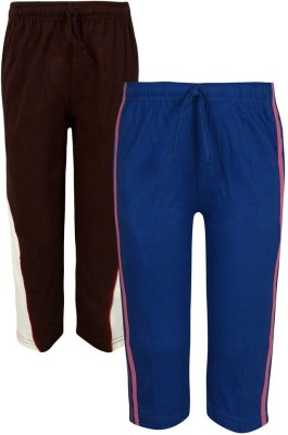 Jazzup Solid Boy's Blue, Brown Track Pants